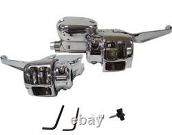 04-06 Harley Sportster Chrome Handlebar Control Kit Dual Disc 44732