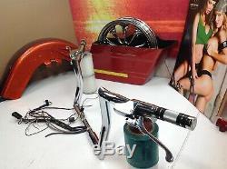 08-13 Harley CVO 1.5 HHI Chrome 12 Handlebars Internal Hydraulic Controls