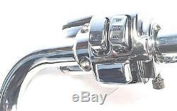 1 1/4 Ape Hanger 14 Chrome Handlebar Control Kit 00 06 Harley FL Softail FLST