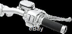 1 1/4 Ape Hanger 16 Chrome Handlebar Control Kit 07 11 Harley Dyna FXDL