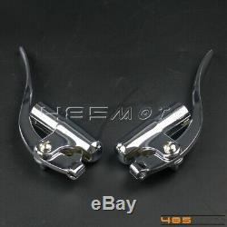 1 Handlebar Inverted Control Lever Bar End Brake Clutch Lever For Harley Bobber