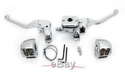 12 Rise Fat Ape Hangers Handlebars 1-1/4 Bars Chrome Hand Controls Harley 96-1