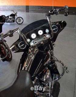 16 Ape Hangers Handlebars 1-1/4 Bars Hand Controls Switches Fit Harley Dressers