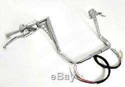 16 Chrome Ape Hangers Handlebars 1-1/4 Cruise Control Harley Glide Bagger 96-12
