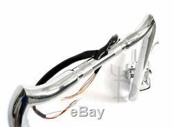 18 RISE CHROME MAYHEM APE HANGERS HANDLEBARS dual disc
