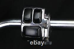 1998 Harley Road King CHROME 14 APE HANGER Handlebars & Hand Switch Control Set