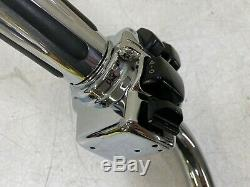 2004 HARLEY FLH ELECTRA GLIDE CVO CHROME HANDLE BARS with HIDDEN WIRES CONTROLS