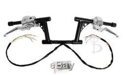 6 Rise Black Rsd Drag Handlebars Hand Controls Switches Bars Harley