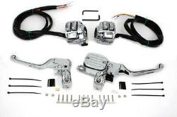 96-06 Chrome handlebar controls w 9/16 bore master cylinder w switches, levers