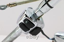 98 Harley EVO Dyna FXDWG EXTENDED Handlebar CHROME Switch Control Cable Set