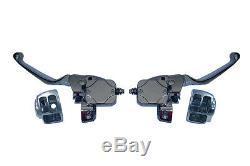 American Ironhorse Dual Disc Handlebar Control Set NEW Chrome Texas Chopper LSC