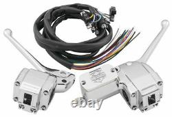Bikers Choice Handlebar Control Kit For 26-098 With Black Switches Chrome