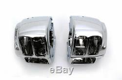 Black Handlebars Fat 16 Ape Hangers Hand Controls Switches Bars Fit Harley