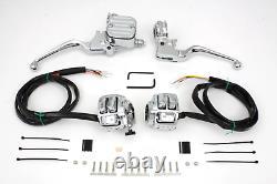 Chrome Handlebar Control Kit FXST 1996/2006 FLST 1996/2006 FXD 1996/2005 XL 1996