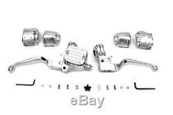 Chrome Handlebar Control Kit Fxst 2011/2014 Flst 2011/2014 Fxd 2012/2017 Fxdwg 2