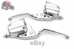 Chrome Handlebar Control Kit Hydraulic Master Cylinder 2017-2020 Harley Touring