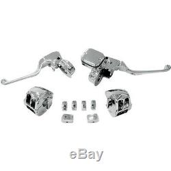 Chrome Handlebar Control Kit Mechanical withSwitch Drag Specialties H07-0751AK