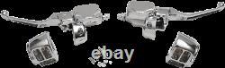 Chrome Handlebar Control Kit Single Disc Harley Dyna 1996-2011