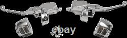 Chrome Handlebar Control Kit Single Disc Harley Fatboy 1996-2010