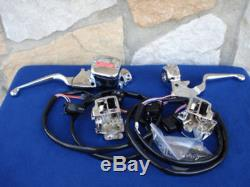 Chrome Handlebar Control Kit W Switches For Harley 1996-2006