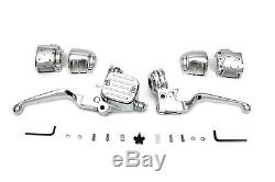 Chrome Handlebar Control Kit fits FLST/FXST 2007-2010,9/16 bore master cylinder