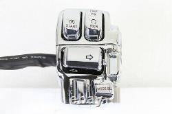 Chrome Handlebar Control Kit fits Harley-Davidson