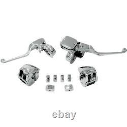 Chrome Handlebar Control Mechanical withSwitch Drag Specialties H07-0748AK