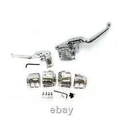 Chrome Handlebar Control kit for Harley-Davidson FXCW Rocker 08-11 940568