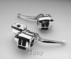 Chrome Handlebar Controls 11/16 Bore 1996-2006 Harley Road King Sportster Dyna