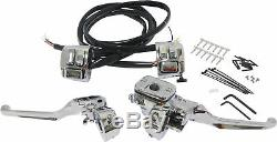 Chrome Handlebar Controls 11/16 WithChrome Switches Har. 26-128 For 96-06 Harley