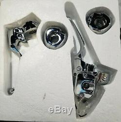 Chrome Handlebar Controls Hand Levers Kit Single Disc 1996-2006 Harley