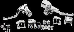 Chrome Handlebar Controls Kit Hydraulic/Mechanical Harley Sportster 1200 2014-19