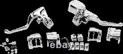 Chrome Handlebar Controls Kit Hydraulic/Mechanical Harley Sportster 883 2014-19