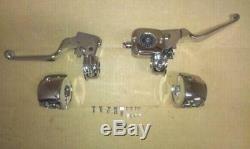 Chrome Handlebar Controls, Levers fit Harley 1996-2007 Dual Disc