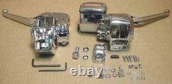 Chrome Handlebar Controls/Levers fit Harley Touring FLHT-FLTR 96-06 Radio Cruise