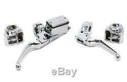 Chrome Handlebar Controls Switch Housings 3/4 Bore Harley Custom Softail 82-95