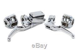 Chrome Handlebar Controls Switch Housings Chrome Harley Shovelhead Evo Xl 82-95