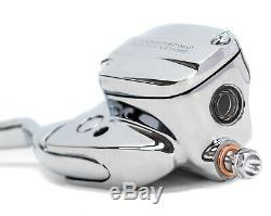 Chrome Handlebar Controls + Switch Housings Chrome Harley Touring Bagger 08-13