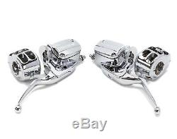Chrome Handlebar Controls + Switch Housings Chrome Harley Touring Bagger 2014+