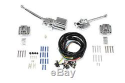 Chrome Handlebars Control Kit 72-81 Harley Ironhead Sportster Shovelhead Chopper