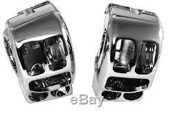 Chrome Hydraulic Brake Clutch Handlebar Control Kit Switch Housings Harley 14-16