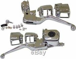 Chrome Low Profile Handlebar Controls 11/16 Bore Harley Davidson 1996/2006