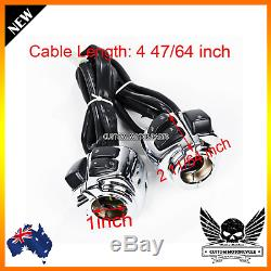 Chrome Motorcycle 1 Handlebar Control Switche + Wiring Harness Harley 1996-2012