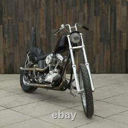Chrome Re-Bar 1 Handlebar (Dimpled for Stock Harley-Davidson Hand Controls)