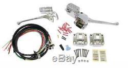 Chrome Switches + Handlebars Control Kit 72-81 Harley Ironhead Shovelhead Bobber