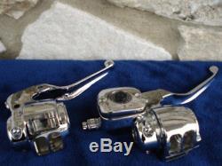 Dot 5 Chrome 11/16 Bore Handlebar Control Kit For Harley Dual Rotor 1996-06
