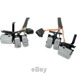 Drag Chrome Button Switch Cap Handlebar Control Kit Harley Touring Softail 96-13