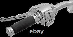 Drag Specialties 0610-0529 Chrome Handlebar Control Kit with Mechanical Clutch