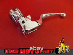 Drag Specialties CHROME 9/16 HANDLEBAR CONTROL Kit without Switches 96-11 FXD