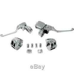 Drag Specialties Chrome Handlebar Control Kit with Mechanical Clutch #0610-0528
